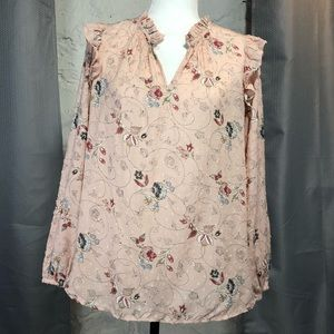 LOFT Flower Patterned Top NWT